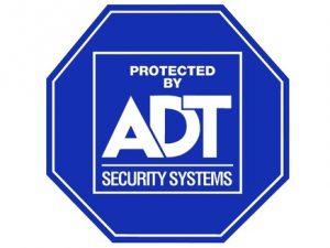 security system alert sign